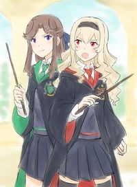 Shoujo Kageki Revue Starlight - Maya and Claudine in Hogwarts School Of Witchcraft and Wizardry (Doujinshi)