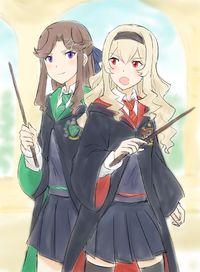 Shoujo Kageki Revue Starlight - Maya and Claudine in Hogwarts School Of Witchcraft and Wizardry (Doujinshi)